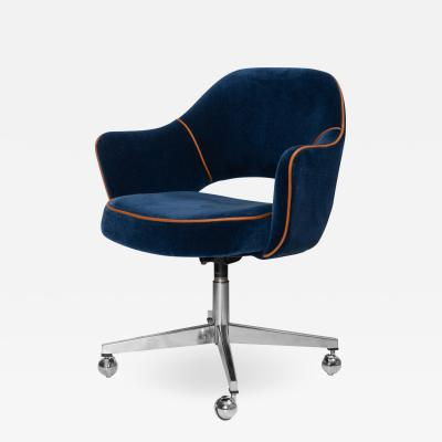 Knoll Saarinen Executive Arm Chair in Mohair Leather by Eero Saarinen for Knoll
