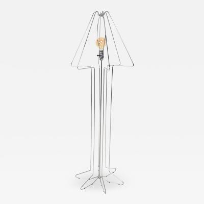Koch Lowy Koch Lowy Cool Chrome Tubular Architectural Floor Lamp George Kovacs Style 70s