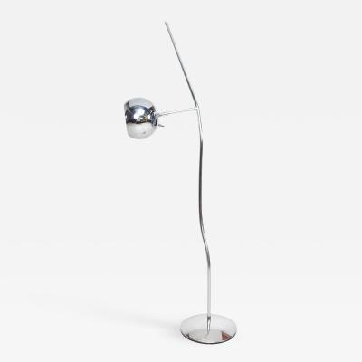 Koch Lowy Koch Lowy Sensational Sleek Sculptural Modern Chrome Floor Lamp USA 1960s