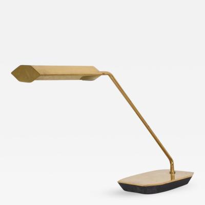Koch Lowy Mid Century Modern Anthony Howard for Koch Lowy Brass Desk Table Lamp