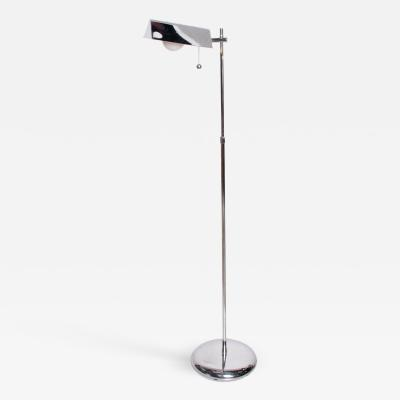 Koch Lowy Mid Century Modern Chrome Reading Floor Lamp After Koch Lowy