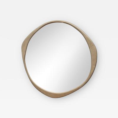 Konekt A Cepa Cast Bronze Wall Mirror by Konekt