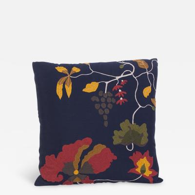 Konekt Silk Wool Sateen Embroidered Pillow