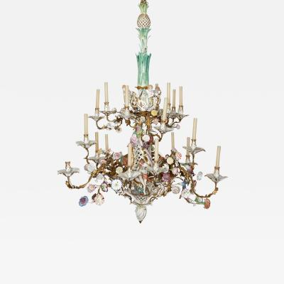 Konigliche Porzellan Manufaktur KPM KPM porcelain and gilt bronze chandelier