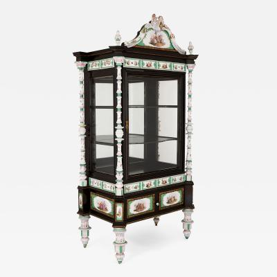 Konigliche Porzellan Manufaktur KPM Ormolu and KPM porcelain mounted display cabinet