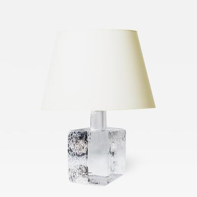Kosta Boda AB Mod Crystal Lamp by Karl Bengt Eug n Edenfalk for Kosta