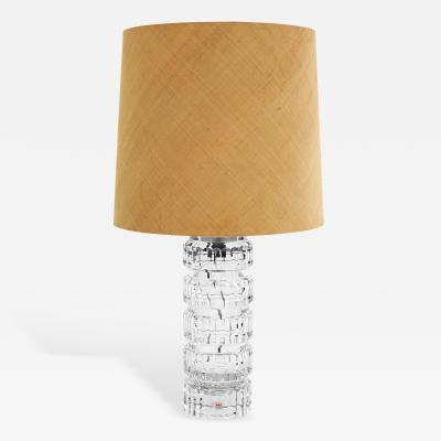 Kosta Boda Exceptional Cut Crystal Table Lamp with Internal Illumination by Kosta Boda