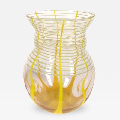 Kralik Glassworks Bohemian Art Deco Period Art Glass Vase by Kralik Early 20th Century
