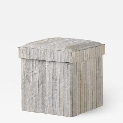 Kravet Inc Recherche Storage Stool Striped