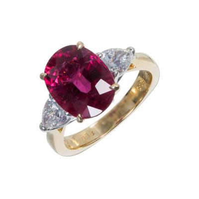 Krementz Co Richard Krementz 4 67 Carat Rubelite Pink Tourmaline Diamond Platinum Gold Ring