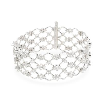 Kwiat Kwiat Jasmine Diamond Bracelet in 18KT White Gold 5 28 CTW
