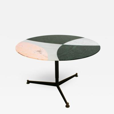L A Studio L A Studio Contemporary Modern Marble Circular Dining Table