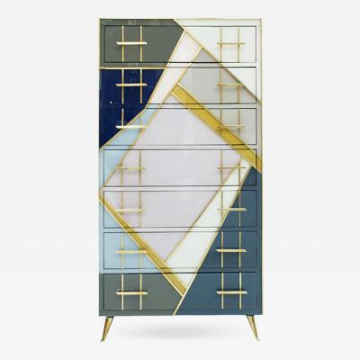 L A Studio L A Studio Mid Century Modern Murano Glass Italian Sideboard