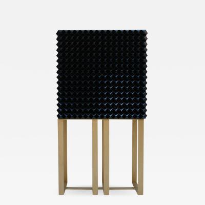 L A Studio L A Studio Modern Hand Painted Textured Solid Wood Italian Cabinet