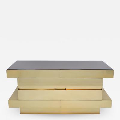 L A Studio L A Studio Modern Wood And Brass Italian Sideboard