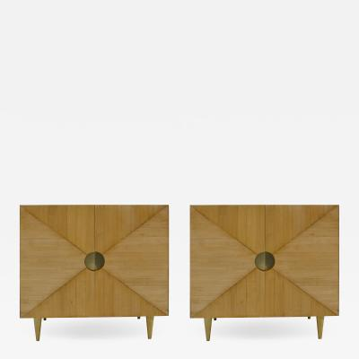 L A Studio L A Studio Pair Of Ash Wood Sideboards Italy