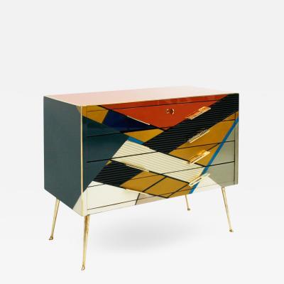 L A Studio Mid Century Modern Style Murano Glass Italian Commode Designed by L A Studio
