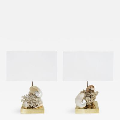 L A Studio Pair of Coral Table Lamps Designed by L A Studio