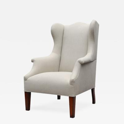 LEE STANTON EDITIONS Somerton Upholstered Tall Wing Chair with Tapered Legs