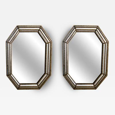 La Barge A Pair of Large Vintage La Barge Mirror with Gilt Frame