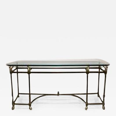 La Barge American Mid 20th Century Hollywood Regency Brass Console Table