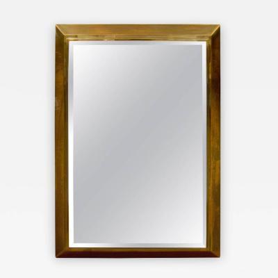 La Barge Brass Framed La Barge Mirror