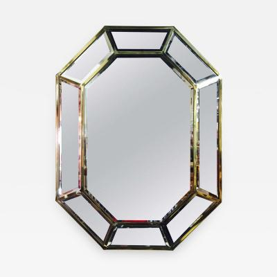 La Barge Brass Octagonal Mirror by La Barge