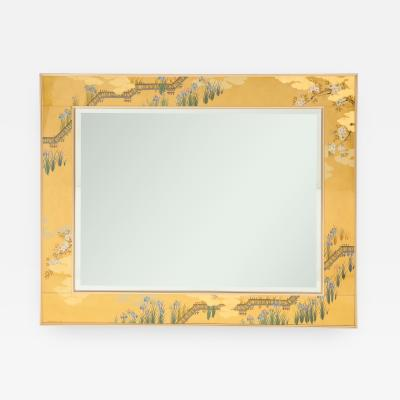 La Barge glomis Gold Bevelled Mirror with Asian Design by La Barge