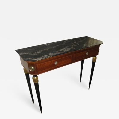 La Permanente Mobili Cant 20th Century Italian Mahogany and Inlaid Kings Wood Console Table