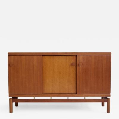 La Permanente Mobili Cant Mid 20th Century Italian Teak Sideboard with Brass Details