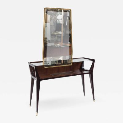 La Permanente Mobili Cant Mid Century Console With Mirror by Cantu Mobili