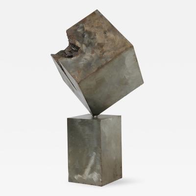 Ladd Brutalist Steel Sculpture by Ladd