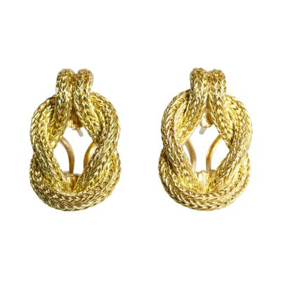 Lalaounis Pair of 18 Karat Gold Earclips by Lalaounis Greece