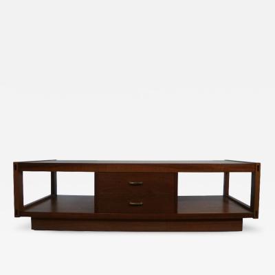 Lane Furniture Architectonic Walnut Coffee Table by Lane
