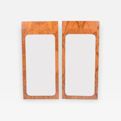 Lane Furniture Burl Wood Mirrors by Lane Furniture