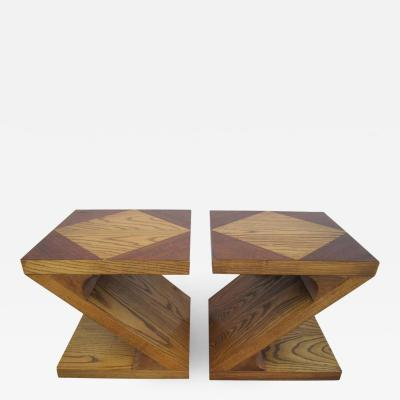 Lane Furniture Excellent Pair of Lane Z End Side Tables Mid Century Modern