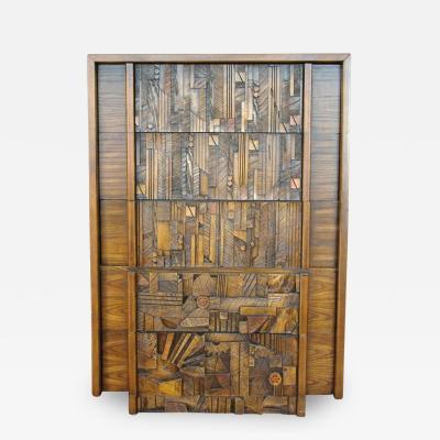 Lane Furniture Lane Brutalist Dresser in the Style of Paul Evans