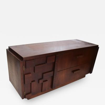 Lane Furniture Lane Brutalist Short Credenza Mid Century Modern