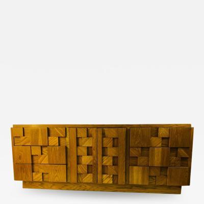 Lane Furniture MAGNIFICIENT BRUTALIST DRESSER DESIGNED BY LANE