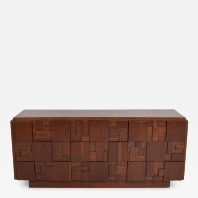 Lane Furniture Mid Century Modern Lane Brutalist Dresser in Excellent Restored Condition