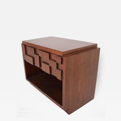 Lane Furniture Mid Century Modern Lane Brutalist Nightstand