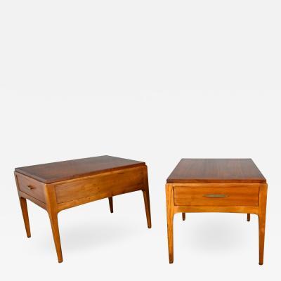 Lane Furniture Mid century modern lane rhythm collection walnut end tables a pair