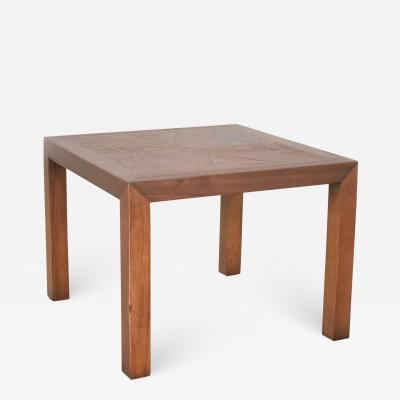 Lane Furniture Vintage modern lane solid walnut square parsons table w inlay style 1124 18