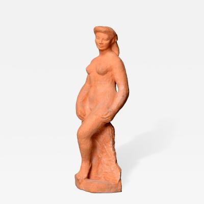 Lapeyriere Fine French Terracotta Sculpture by Lapeyriere