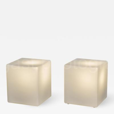 Laurel Lamp Company Cube Form Table Lamps by Laurel