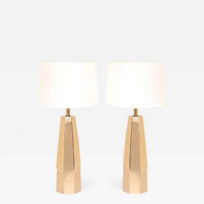 Laurel Lamp Company Faceted Brass Lamps