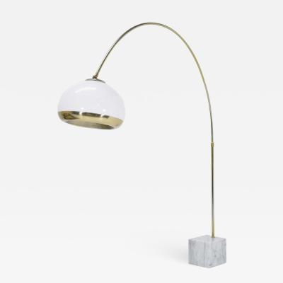 Laurel Lamp Company Italian Style Marble Base Arc Floor Lamp by Laurel Lamp Co