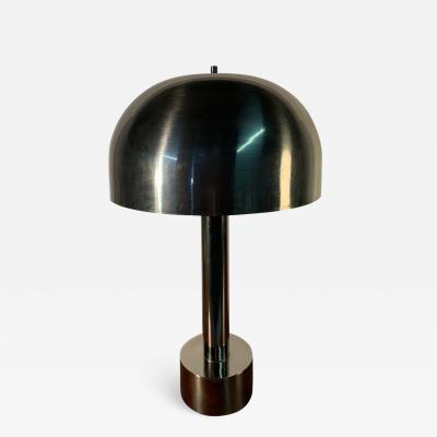 Laurel Lamp Company Laurel Lamp Company Karl Springer Style Chrome Mushroom Table Lamp