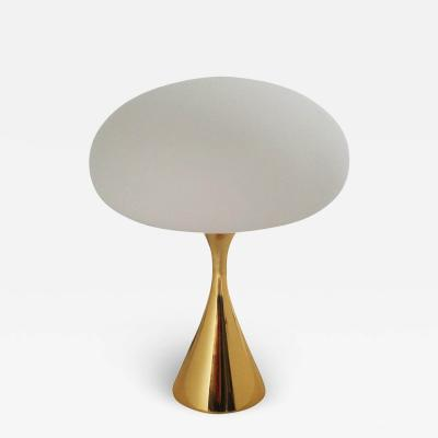 Laurel Lamp Company Mid Century Modern Laurel Mushroom Table Lamp in Brass after Bill Curry