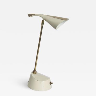 Laurel Lamp Company Modern Flair LAUREL Brass Pivot Cone Lamp Desk Task Light 1950s